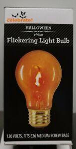 Flickering Orange Colored Replacement Light Bulb 1 Watt 120 V  Halloween (Set 6)