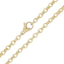 """14k Yellow Gold Handmade Fashion Link Necklace 18"""" 4mm 25.6 grams"""