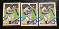 Leody Tavares RC Lot(3) 2021 Topps Series 1 #264 Texas Rangers