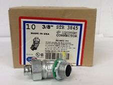 """QTY 10 New American Fittings Corp, STR3845 Liquidtight Connector, 3/8"""" 45 Degree"""