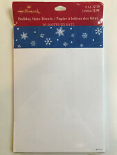 Hallmark Christmas Card Enclosure Letter Paper Stationary Snowflakes Note Pad
