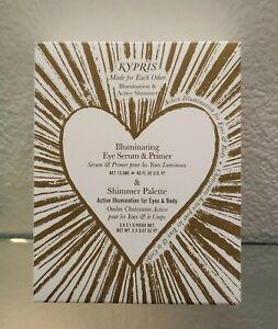 KYPRIS Set Illuminating Eye Serum & Primer with Shimmer Palette Retail $145 NIB