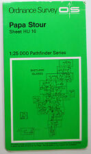 1977 OS Ordnance Survey Second Series 1:25000 Pathfinder map HU 16 Papa Stour