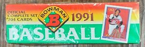 1991 Bowman Complete Baseball Factory Sealed Set with 704 Cards