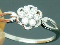 9ct Gold 0.25ct Diamond Hallmarked Cluster Ring size R