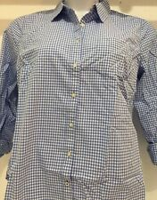 9a95e4f5 JCP Womens Blue Plaid Button Up Cotton Casual Shirt Size XL Long Sleeve