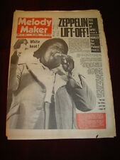 MELODY MAKER 1975 MAY 17 BARRY WHITE LED ZEPPELIN YES STEVE HARLEY ERIC CLAPTON