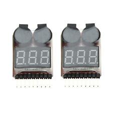 SODIAL (R) 2 Stueck 1-8S Indikator RC Li-Ionen Lipo Batterie Tester Nieders S2N4