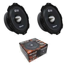 "2 x 6.5"" Slim Midrange 600W Midbass 4 Ohm Speaker Genius Audio GPRO-M0765"