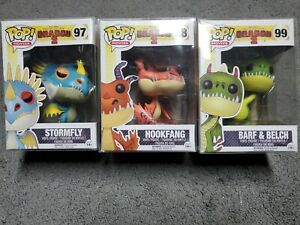 How to Train Your Dragon  Funko Lot 97 Stormfly 98 Hookfang 99 Barf & Belch
