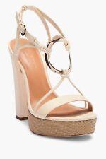 Halston Heritage Leona Ring Block Heel Platform Sandal   Sz 9  $395