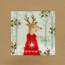 Bothy Threads Cross Stitch Card Kit - Xmas Deer