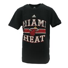Miami Heat Official NBA Adidas Kids Youth Size Distressed T-Shirt New with Tags
