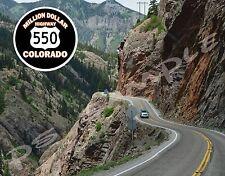 Colorado - MILLION DOLLAR HIGHWAY 550 #1 Travel Souvenir Flexible Fridge Magnet
