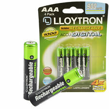 AAA Rechargeable Batteries 900mAh NiMH HR03 Cordless Phone Remote Camera 1.2v