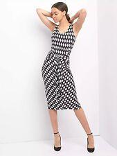 NWT Gap Diamond print tie-front dress, black print SIZE ST S T     #813243  v822
