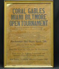 RARE c.1941 MIAMI GOLF TOURNAMENT POSTER  SIGNED BY CHAMPIONS PARTICIPANTS