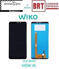LCD PER WIKO VIEW XL DISPLAY SCHERMO TOUCH SCREEN VETRO MONITOR NERO NUOVO