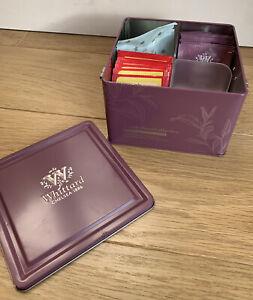 Whittard Of Chelsea Tea Clipper Storage Tin Purple Floral Teas Kitchen Container