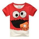 Kids Boys Cartoon T-shirt Toddler Short Sleeve Summer Cotton Tops Shirt 2-8Years