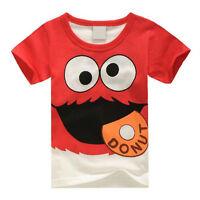 Boys Kids Characters Short Sleeve Tee T Shirt Top age 2-8Years Spiderman Pokemon