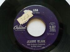 "JEANNE BLACK / JEANNE & JANIE - Lisa / Journey Of Love 1960 CAPITOL Pop Vocal 7"""