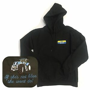 NEW HOLLAND HOODIE TRACTOR HOODY FORD TRACTOR CHRISTMAS STOCKING IF SHE NOT BLUE