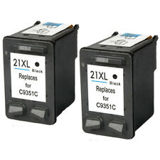 2 Black ink for HP 21 XL Deskjet F370 F4180 F2280 F2235 F2180 PSC 1401 1410 1415