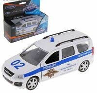 Russian car  1:38    Autogrand with boat LADA LARGUS Military with trailer