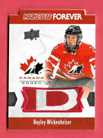 2016-17 Hayley Wickenheiser Upper Deck Canada Juniors Maple Leaf Forever Patch
