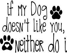 Dog Station Dog Paws Love My Dog Vinyl Decal/Sticker Walls, Windows, Cars