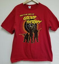 This Is My Idea Of Group Therapy Hunting Shooting Gun T-Shirt Red SZ L NWOT