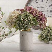 Decoration Home Garland Hydrangea Artificial Plant Fake Flowers Bridal Bouquet