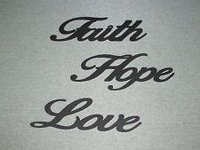 Faith Hope Love Wall Wooden Words Hanging Decor Art