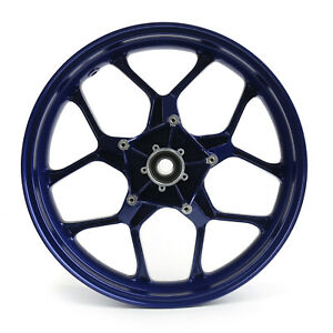 CNC Front Wheel Rim For Yamaha YZF R1 YZFR1 2015-2017 Blue A01 T05