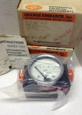 Orange Research Differential Pressure Gauge 1203PGS-1A-2.5L-1 Max. Op. Press. 50