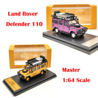 Master 1:64 Land Rover Defender 110 Models Toys Car Diecast Orange and Purple