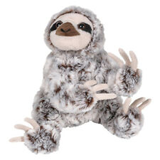 Adventure Planet Plush Animal Den - SLOTH (White Frosted Fur) (8 inch) - New