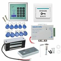 130LBS Kit Electric Door Lock Magnetic Access Control ID Card Password System F3