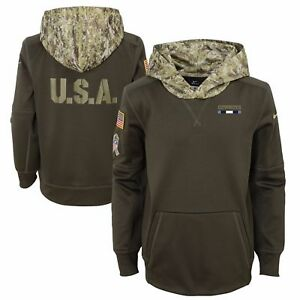 New Dallas Cowboys 2017 NFL Salute to Service Hoodie Adult Size Medium