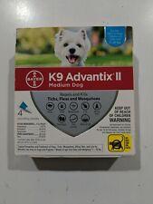 Bayer K9 Advantix Ii Medium Dog 11-20 lb Flea Tick Mosquito Treatment 4 pack