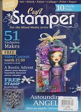 CRAFT STAMPER MAGAZINE DEC 2015, W FREE STAMP FOR THE MIXED MEDIA ARTIST.