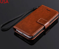 Genuine Luxury Real Leather Flip Wallet Case Cover For Apple iPhone 5C
