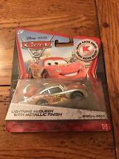 Disney Pixar Cars 2 LIGHTNING MCQUEEN Metallic Car Silver Racer Kmart Exclusive