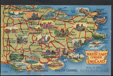 Maps Postcard - Map of The South East Corner of England, Sussex   RS1881