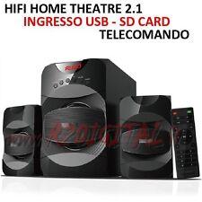 HIFI A301 RADIO HOME THEATRE ALTOPARLANTI CASSE ACUSTICHE STEREO USB SD COMPUTER