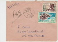 Rep Du Congo 1969 Airmail Sibiti Cancels Olympics + Lady Stamps Cover Ref 30713