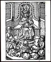 Original Photo WHO Engraving Aristotle Woodcut Medicine Science