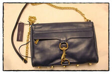 REBECCA MINKOFF MAC Morning After Clutch Dark Blue Navy Retails 330 New!! Sale!