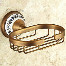 New Design Solid Brass Wall Mount Bathroom Soap Dish Basket Holder Antique Brass